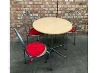 Retro Style Table and Three Chairs