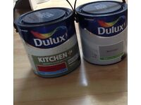 DULUX PAINT FOR SALE BRAND NEW AND UNUSED - X1 WARM PEWTER (GREY) X1 SALSA RED