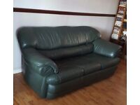 Real Leather 3 seater sofa bed