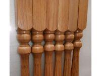 Oak Stair Spindles x6