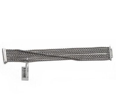New DAVID YURMAN 8 Row 2.7mm Sterling Silver Box Chain Bracelet (David Yurman 8 Row Box Chain Bracelet)