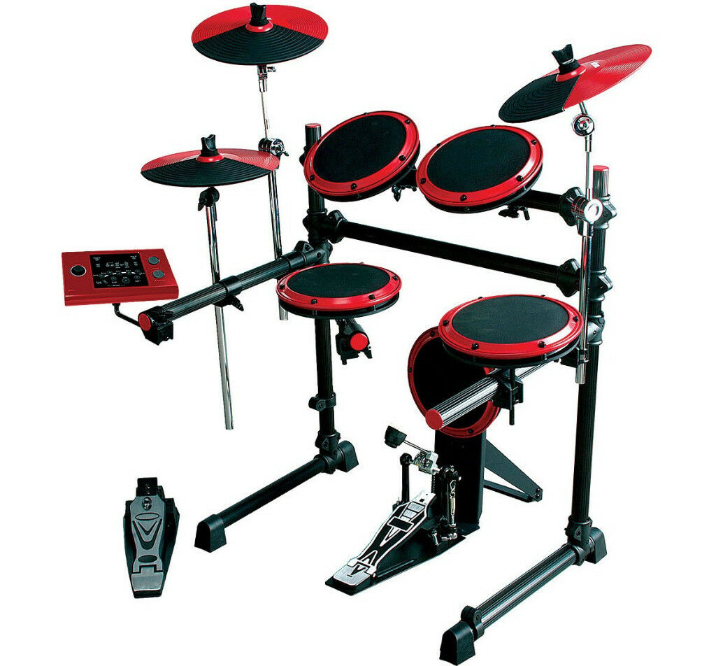 DRUMS DDrum DD1 Electronic Drum Set / Drum Kit with Cymbals , Hi-Hat , Bass Pedal / As New !