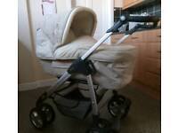 Silver Cross Sleepover Pram with Car Seat & Isofix Base