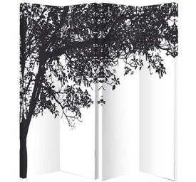 Trees Silhouette Single Sided Screen- room divider, privacy screen
