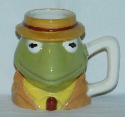 Muppets Kermit the Frog coffee tea mug cup vintage 1981 ceramic handpainted mint