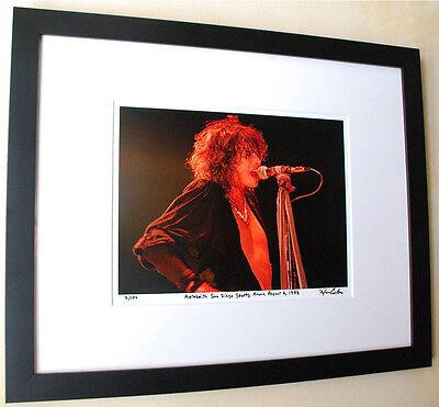 Aerosmith Steven Tyler Rare frame fine art live photo 1983 signed number 3/100