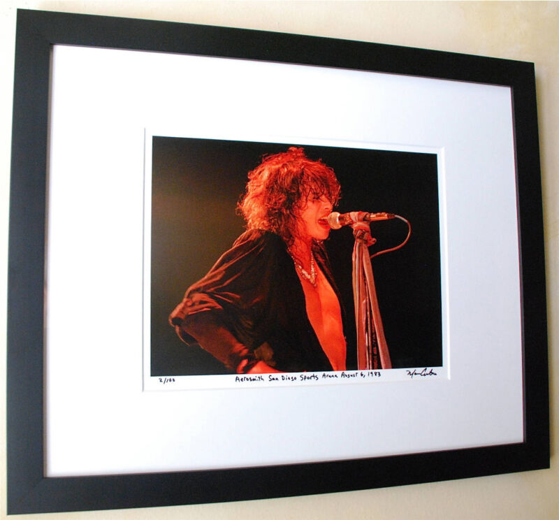 Aerosmith Steven Tyler Rare frame fine art live photo 1983 signed number 6/100