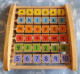 Wooden Alphabet Abacus Toy