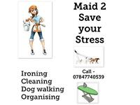Cleaner and house keeping services. Ironing, Organising, Dog walking, General and Deep clean
