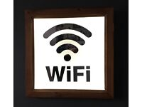 LED Battery Operated Wifi Sign