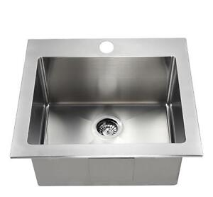 HIGH END - STAINLESS STEEL LAUNDRY SINK  TUB - 12 DEEP