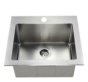 "HIGH END - STAINLESS STEEL LAUNDRY SINK  TUB - 12"" DEEP"