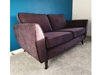 Black 3 & 2 Seater Sofa