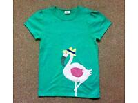 Mini Boden Girl's appliqué t-shirt in excellent condition, age 11-12 years