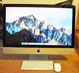 "27"" iMac 2012 With Brand New 1TB Hard Drive With Latest macOS Sierra Operating System"