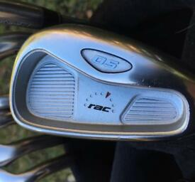 TAYLOR MADE RAC OS IRONS (4-SW) IN EXCELLENT CONDITION