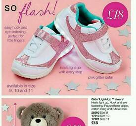 Kids light up trainers