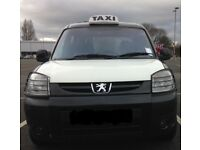 TAXI Cardiff Hackney Peugeot Partner 2008 & plate , Millage 86K Mot 5th March 2019