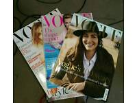Collection of British Vogue Magazines