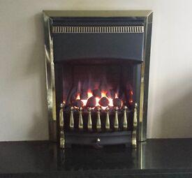 Valor Ultimate 3.3 kw Slimline Coal Effect Inset Gas Fire ( Brass/Black )