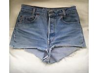 Levi 501 vintage denim shorts