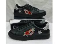 black trainer pumps