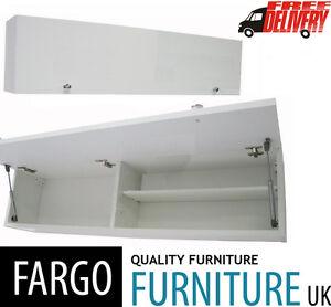 120cm Horizontal Wall Mounted Bathroom Cabinet Cupboard High Gloss Door