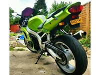 Stunning 2003 ninja zxr636 A1P in candy green 26k packed swap px