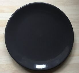 4 beautiful brand new dark grey side plates.