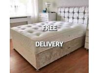 New DIVAN BEDS * Made in UK * FREE HEADBOARD AND DELIVERY