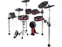 Alesis Crimson 2 electric mesh head drum kit mapped double bass kicker