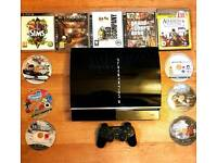 *** PLAYSTATION 3 BUNDLE with 12 games and accessories ***