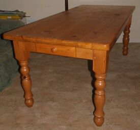 Long (6') Solid Pine Family Kitchen Table