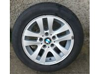 "BMW alloy wheel 16"" with tire 205 55 16"
