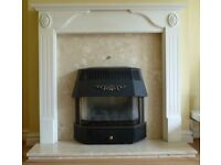Marble & Wood Fire Surround