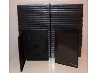 Black full size DVD cases ~ Brand New Left over stock from video business ~ Quantity 64