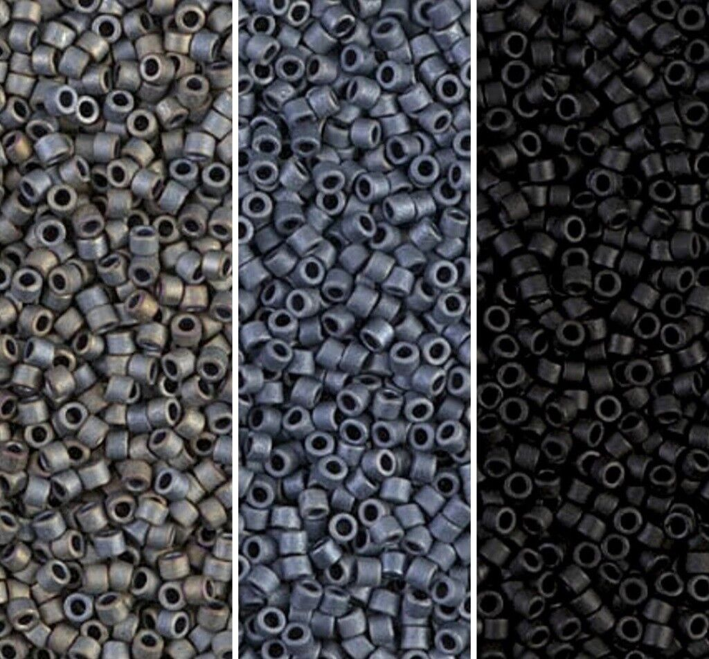 delica seed beads size 11 0 matte