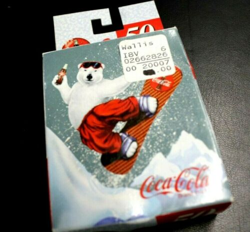 "COCA COLA SKATE BOARDING POLAR BEAR ULTRA MINI PUZZLE 1998 50 PIECES 5"" X 7"