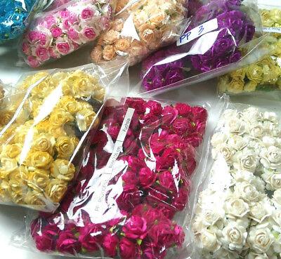 100 Rose Flower Mulberry Paper Wedding Scrapbooking Card Crafts 1.85-2.00cm (Paper Flower Crafts)
