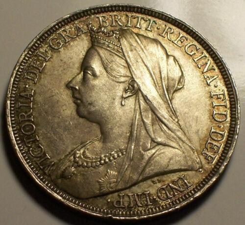 Great Britain, 1897 Victoria Crown. LX on Rim. 262,000 Mintage.