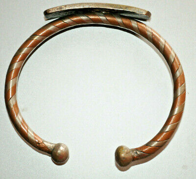 Great item style Ancient Viking silver color bronze Solid Twitsted Bracelet rare