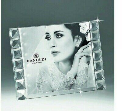 Photo Holder Crystal Swarovski Quality Made IN Italy Ranoldi Modern Wedding New