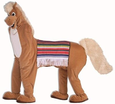 Two-Man Horse 2 Person Donkey Animal Fancy Dress Halloween Adult - 2 Person Costume