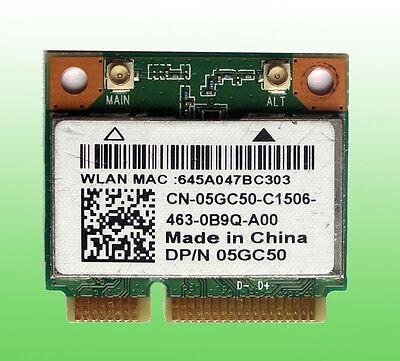 Dell Wireless WiFi P/N:05GC50 Model:QCWB335 802.11a/b/g/n Bluetooth 4.0 802.11 A/b/g/n Bluetooth