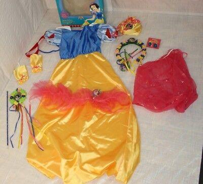 Disney Girls Sz 7-10 Snow White 9 Pieces Dress & Accessories Snow White Dress-up](Snow White Halloween Costume Accessories)