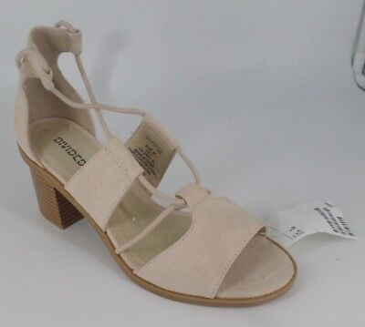 H&M Blocked Heel  Lace Up Sandals In Nude Size UK 5 EU 38 NH086 CC 08