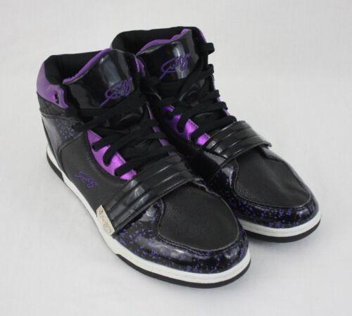 FUBU Mens Black Purple High Top Basketball Sneakers Shoes Size 11M