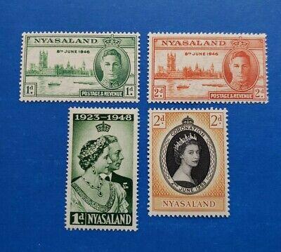 Nyasaland Protectorate Stamps, Scott 82-83, 85, 96 MLH