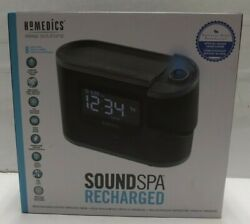 Homedics SS5080 Sound Spa Recharged W/8 Nature Sounds Projection Alarm Clock NEW