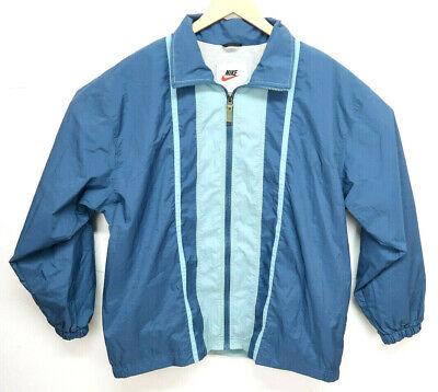 Vintage Nike Windbreaker Zip Up Jacket Men's L Blue Light Weight EUC White Tag